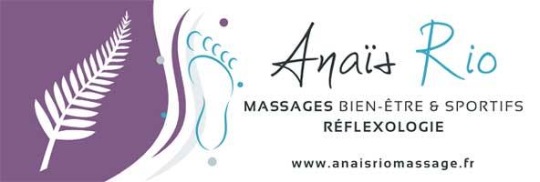 Anaïs Rio, Massages et réflexologie